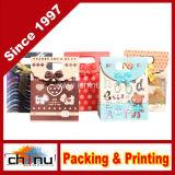 Мелованная бумага / Белая бумага 4 цветных подарочный пакет (3201)