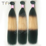 Pre-Coloed 9A Virgem Ombre brasileira de cabelo humano tecem (TFH18)