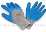 Перчатки Coated безопасности латекса работая