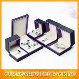 Le marquage à chaud Bijoux boîte cadeau en bois blanc (FLO-go049)