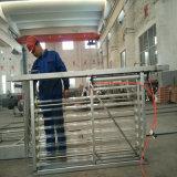 Abrir el sistema ULTRAVIOLETA de las lámparas del canal para el tratamiento de aguas residuales
