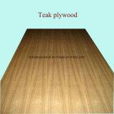 Suposición Fábrica-Natural Plywood-12mm y 18m m de la teca de la flor