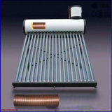 Nueva presurizado compacto precalentado bobina de cobre calentador de agua solar