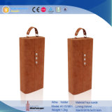 Handmade 호화스러운 PU Leather Gift Wine Packaging Box (5668R1)