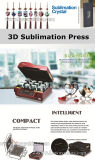 stampatrice della tazza di vetro di vino della stampante della pressa di scambio di calore di vuoto di sublimazione 3D