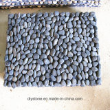 Черный поставщик Китая цены циновки камня пола руки камня реки