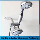 Rechteckiger Vierradantriebwagen-Funktions-Niederschlag-Strahlen-Dusche-Kopf u. Stab kombiniert im Chrom-kombinierten Set mit dem Dusche-Arm