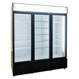 3 porte en verre réfrigérateur commercial