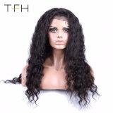 最上質のブラジルの深い波150%の密度の人間の毛髪のかつら
