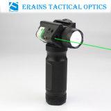 Nova pega táctico Lanterna Laser verde com Q5 250 Lumens Lanterna de luz LED