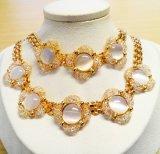Accesorio de joyas de moda el compromiso de boda África India Conjunto de joyas de oro