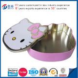 Caja del acondicionamiento de los alimentos del metal del gatito de la historieta