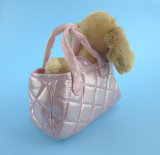 Cão de pelúcia lindo com saco de cachorro portátil Bolo de pelúcia
