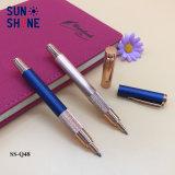 Produit de luxe Cuivre Métal Pen Golden rose et bleu de stylo de rouleau