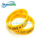 Alta qualità Debossed Color Filled Silicone Bracelets con Competitive Price