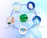Removedor de mancha do detergente líquido da lavanderia de OEM&ODM, vagem do detergente líquido de cor verde, vagens super do detergente líquido da concentração