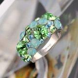 De nieuwe Juwelen van de Manier met de Groene Ring van de Manier Rhinstone voor Dames
