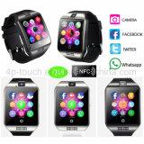 Form gebogenes Bildschirm-intelligentes Uhr-Telefon mit Multifunctions Q18