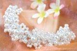 Het witte Haar van het Hoofddeksel van de Bruid van het Kristal van de Parel