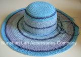Madame Paper de mode de chapeau d'été de piste/chapeau disque souple de paille