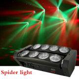 luz principal movente do diodo emissor de luz da iluminação do diodo emissor de luz da aranha 8*10W
