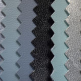 Patrón de cabra cuero de la PU para el revestimiento de calzado (HSTC021)