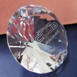 50mm 60mm Hochzeits-Geschenk-Kristalldiamant, Glasdiamant-kundenspezifischer Stich