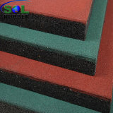 Tuile en caoutchouc extérieure diplôméee à haute densité de couvre-tapis de plancher de sûreté