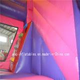Kindergarten-aufblasbares Schloss kombiniert mit Prahler und Plättchen (AQ708-6)