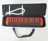 China Melodica Factory Black Red Color 37 Key Melodica