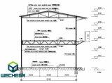 Dormitório Prefab do trabalho do canteiro de obras da casa incêndio modular da isolação das lãs de vidro de fibra da casa do anti