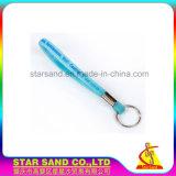 Fördernder preiswertester Druck-Silikonwristband-Schlüsselring, Massengummischlüsselring
