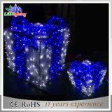 Lumières colorées extérieures de décoration de Noël DEL d'étalage de boîtes-cadeau