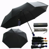 3 Mango cráneo negro plegado paraguas de metal