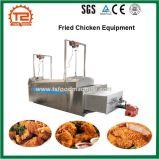 Chauffage au gaz faisant frire la machine et le matériel frit de poulet