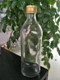 一義的な整形明確なガラスワイン・ボトル