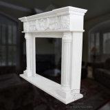 Lareira de mármore natural branca a Mantel