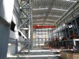 Стальная рама сегменте панельного домостроения в структуре склада