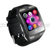 Montre intelligente de téléphone de poignet de mode neuve avec l'écran incurvé Q18
