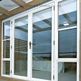 Double porte en aluminium glacée commerciale pour la porte intérieure (FT-D70)
