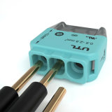 ワイヤー端子ブロック0.5~2.5mm2コネクター押の二重層はジャンクション・ボックスのための絶食する