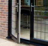 二重ガラスのOutswingの現代フレンチドア