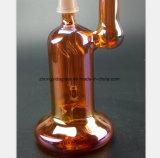 Tubo di acqua di vetro da 8.66 pollici per il tubo di fumo rosso di placcatura