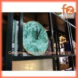 """Reloj de pared de madera de 12"""" con el bastidor de metal dorado Fz016001g"""