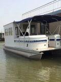 9m de la casa de aluminio Pontoon Boat