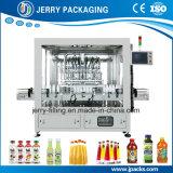 Máquina de rellenar de Bottlle de la bebida automática con el pistón