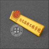 Pin d'organisation fait sur commande, or a plaqué l'insigne en métal (GZHY-CY-023)