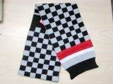 Cappello & sciarpa lavorati a maglia assegno variopinto di modo del capretto per l'inverno