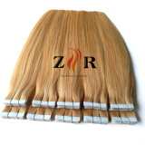 ブロンドのインドのRemyテープ人間の毛髪の拡張