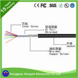 독점적인 ESD 유연한 정전기 방지 내화성 실리콘 케이블을 200 정도 고열 PVC XLPE에 의하여 격리된 동축 전기 전력 철사 주문을 받아서 만드십시오
